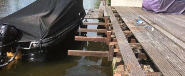 Foto van aanlegplaats voor een boot (foto 1)